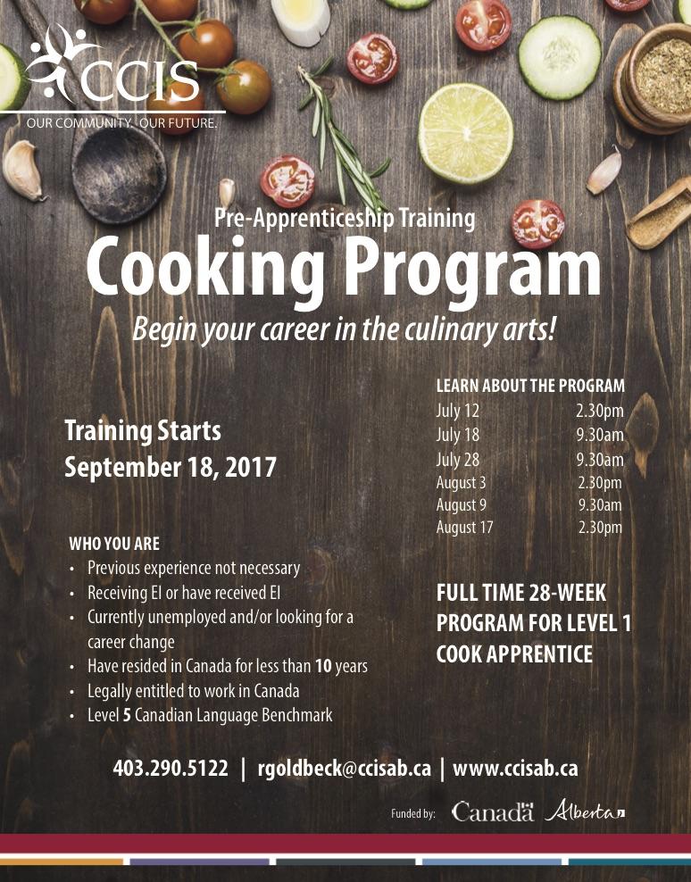 Ccis Alberta Cooking Pre Apprenticeship Training Program