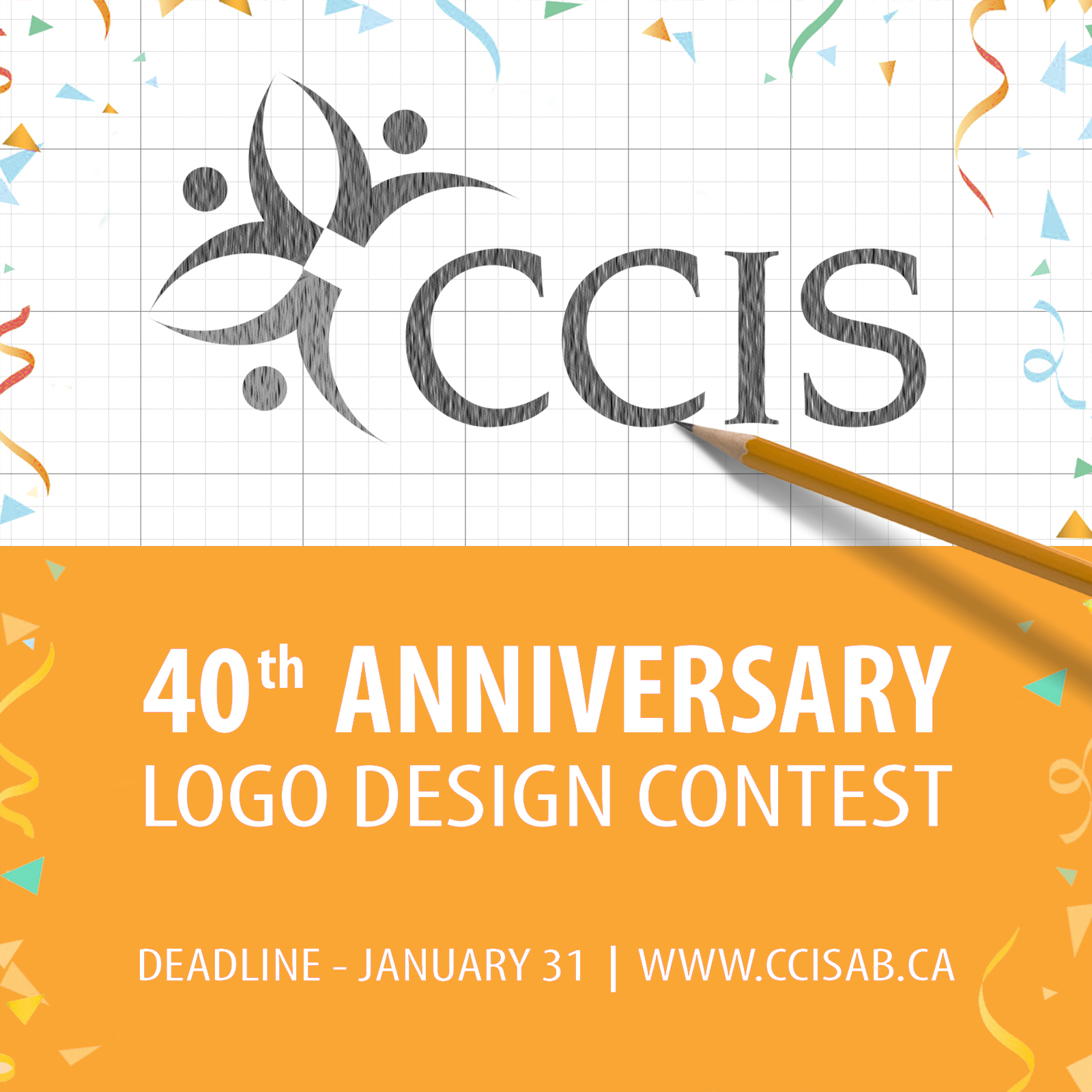 CCIS 40 Anniversary Logo Design Contest Announcement Jan 2021